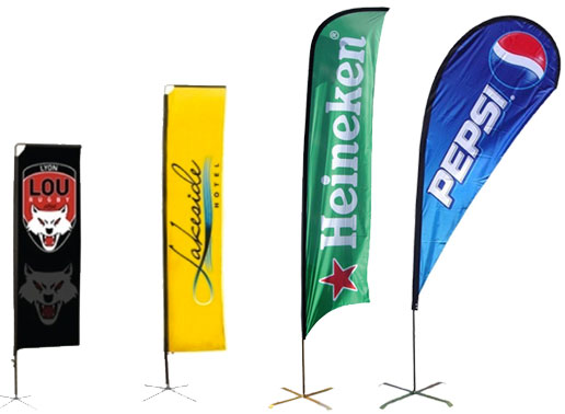 Feather-banners